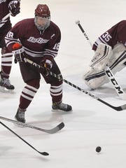 Defenseman C.J. McGee (18) helped Don Bosco limit opponents to 1.6 goals per game this season.