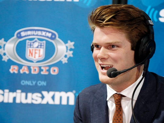 New York Jets draftee quarterback Sam Darnold on air