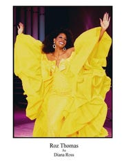Roz Thomas performs as Diana Ross in Bette & Her Divine Divas.