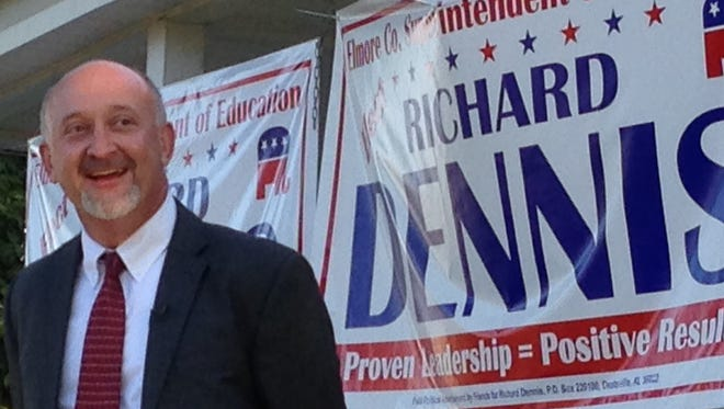 Richard Dennis prior to his announcement to run for superintendent of Elmore County Schools on Oct. 12.