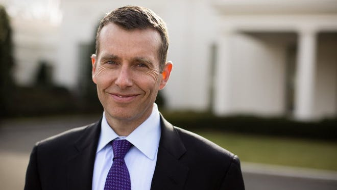 Uber's head of strategy David Plouffe, shown here in 2013 in front of his White House offices, recently unveiled details of the ride-sharing company's new research partnership with Mothers Against Drunk Driving.