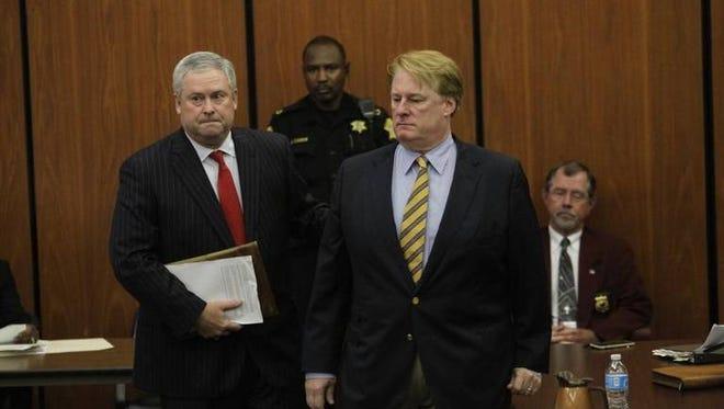Rick Quinn goes before Judge Knox McMahon for his bond hearing Tuesday morning.