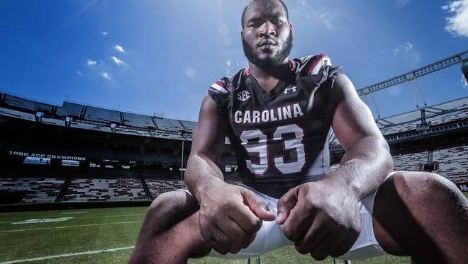 South Carolina defensive lineman Ulric Jones and his teammates must stop the run this season, says coach Will Muschamp.