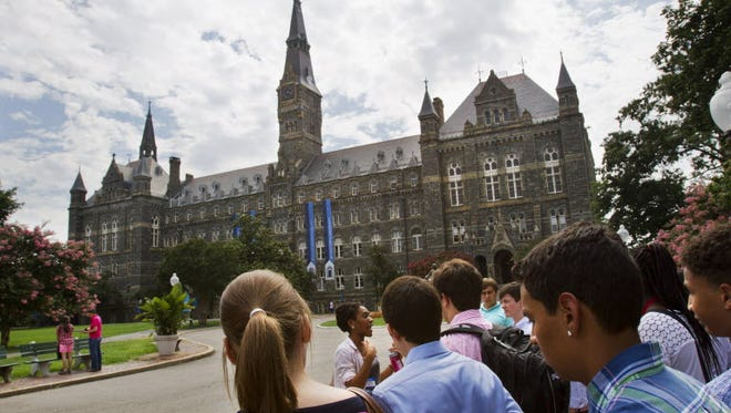 Prospective students at Georgetown University on July 10, 2013.