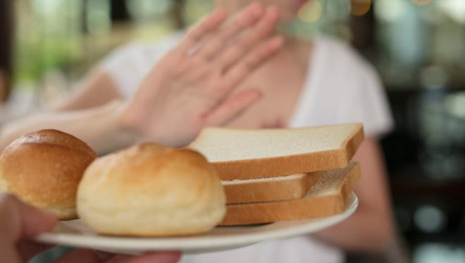 Gluten intolerance and diet concept.