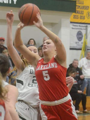 Freshman Keira Marks and the Lakeland girls' basketball team face top-seed Eastside in this weekend's Passaic County Tournament semifinal round. The Lancers have won seven-straight games and 11 of their last 13.