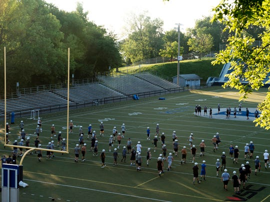 The first Reitz football practice of the season is underway at the Reitz Bowl Monday morning.