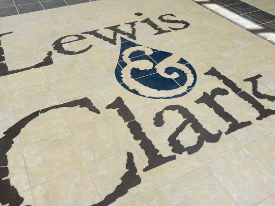 Tiled floor inside the Lewis & Clark Regional Water System water treatment plant near Vermillion.