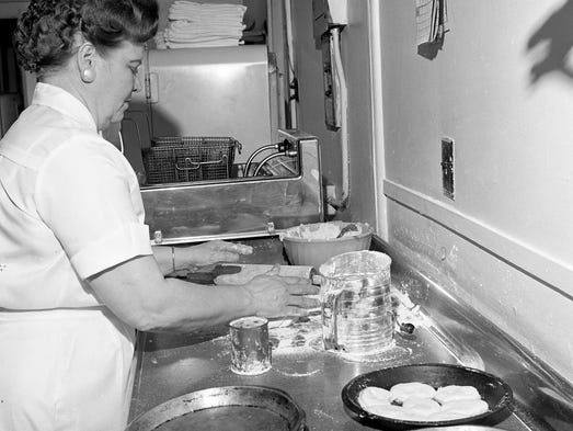Mrs. E.C. Maynard, the proprietor of the Loveless Motel