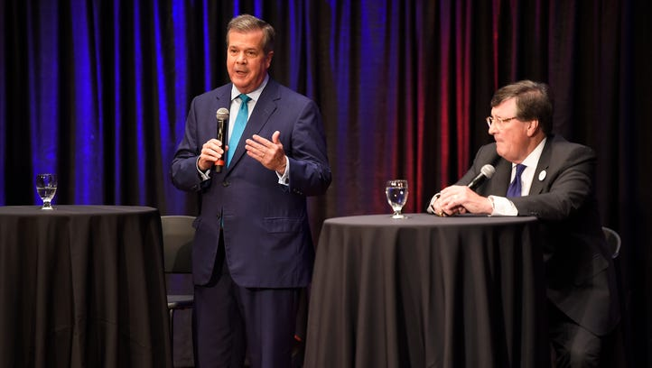 Former Nashville Mayor Karl Dean speaks as House Minority
