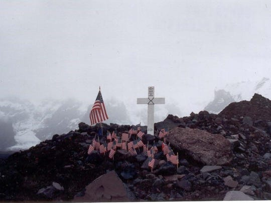 Ceremonial flags were placed on the Northwestern Airline's Flight 4422 crash site in 1999 and later given to families of the victims of the March 1948 crash. Daniel C. Rice's flag will be presented at his medal ceremony on Saturday.
