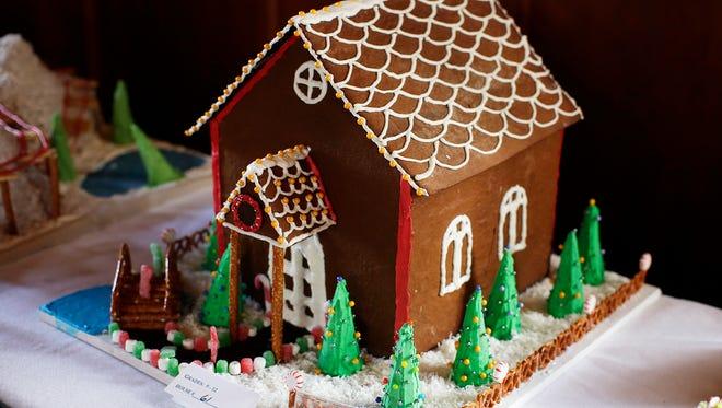 Gingerbread houses are on display at the Kohler Waelderhaus.