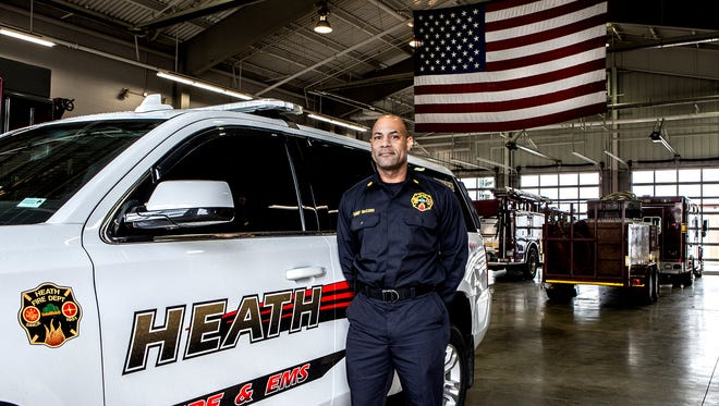 Heath Fire Chief Warren McCord is one of the few African-American members of Licking County's public safety forces.