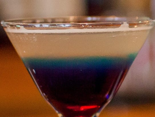 The astro pop martini at Hailey's Harp and Pub.