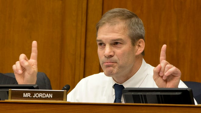Rep. Jim Jordan, R-Ohio, questions Planned Parenthood President Cecile Richards on Capitol Hill on Sept. 29, 2015.