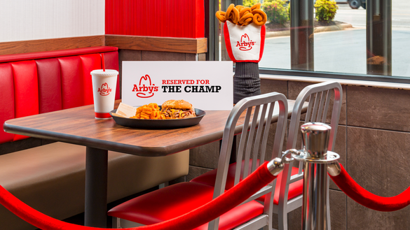 Arby's reserved a space for Tiger Woods across from the entrance to Augusta National