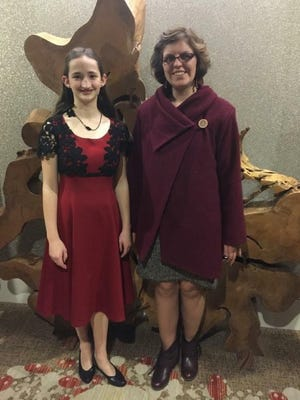 "Morgan Brooks of Ronan, left, Jasmine Powell of Harve, and participated in the National Make it with Wool competition in Denver in January. Brooks was placed as a ""Top 10 Finalist"" in the junior category."