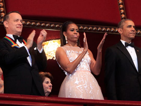 Actor/producer Tom Hanks, first lady Michelle Obama