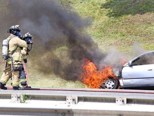 TJN 0714  CAR FIRE