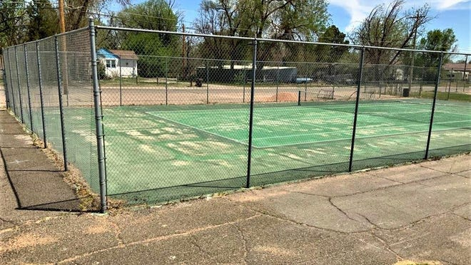 At North Mesa Elementary School, this athletic space has deteriorated to the point of being unsafe to use.