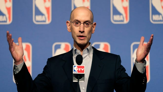 NBA Commissioner Adam Silver said the league may take a new look at its domestic violence policies.
