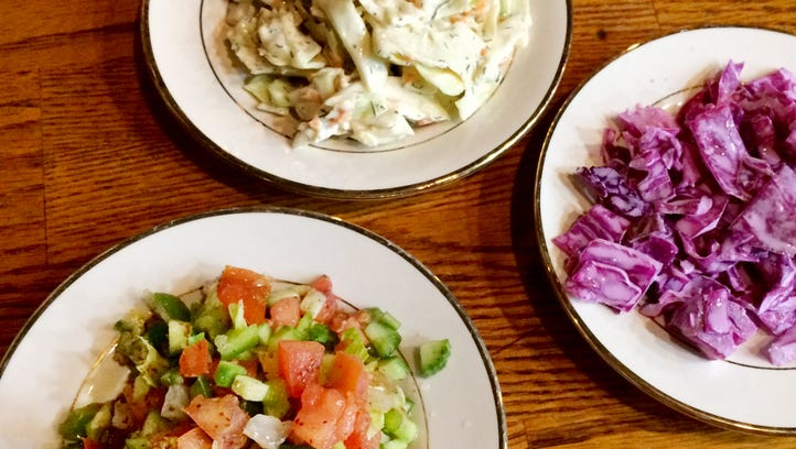 Alshami Restaurant: Complimentary trio of appetizer