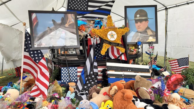 The memorial for fallen Boone County Sheriff's Deputy Jacob Pickett continued to grow on March 6, 2018.