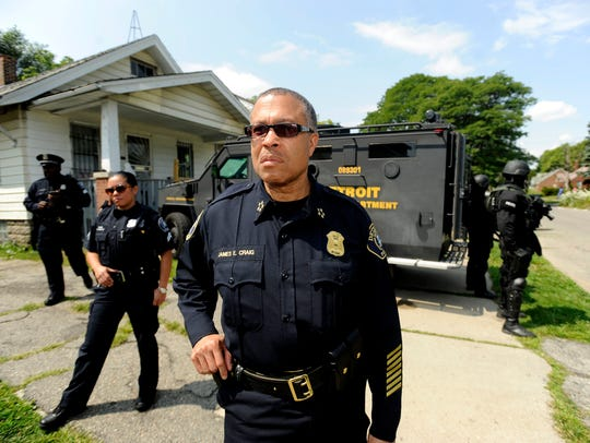 In July 2014, Detroit Police Chief James Craig launches