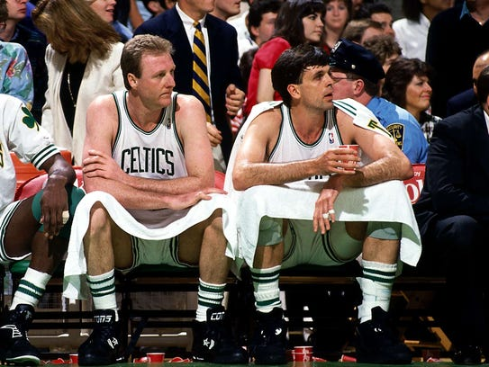 Kevin Mchale Larry Bird Larry Bird and Kevin M...