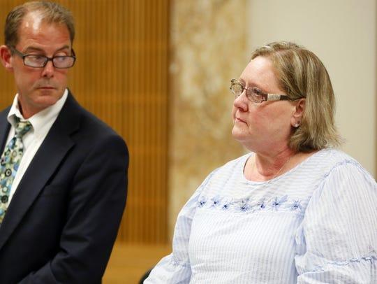 Joyce Bell addresses the court Thursday, June 21, 2018.