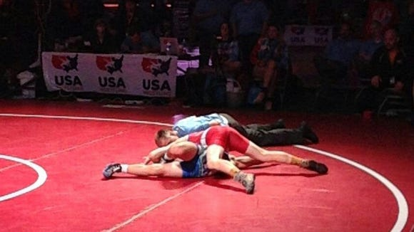 North Henderson rising sophomore Josh Blatt pinned his last opponent on Monday in Fargo, N.D.