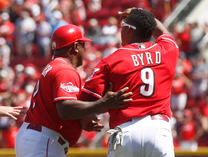 Aug. 2: Reds left fielder Marlon Byrd was ejected for