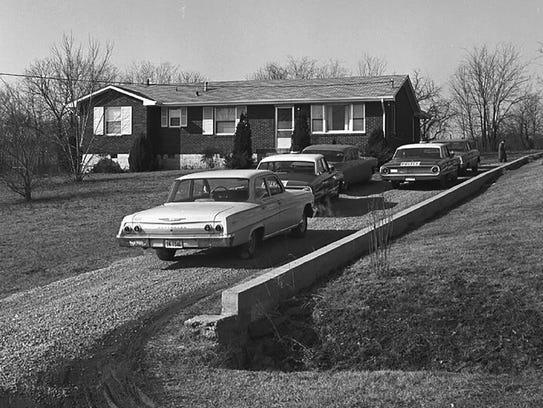 Herring home exterior —  Timberhill Drive, Nashville.
