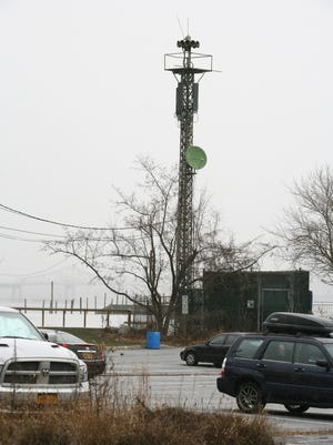 Piermont officials are working with the families of the Tappan Zee barge crash victims regarding a site for their memorial lighthouse. They are focused on the site of a siren tower, seen here Jan. 6 and located on land next to Parelli Park in Piermont.