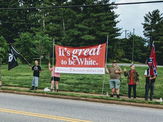 Protesters at First United Methodist Church