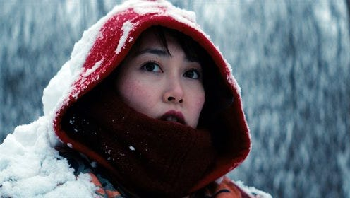 """This image released by Amplify Releasing shows Rinko Kikuchi in a scene from """"Kumiko, The Treasure Hunter."""" (AP Photo/Amplify Releasing)"""
