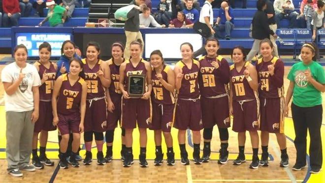 Cherokee's girls basketball team.