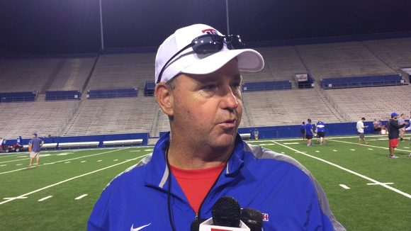 Louisiana Tech coach Skip Holtz came away 'pleased' with the Bulldogs' first scrimmage Saturday.