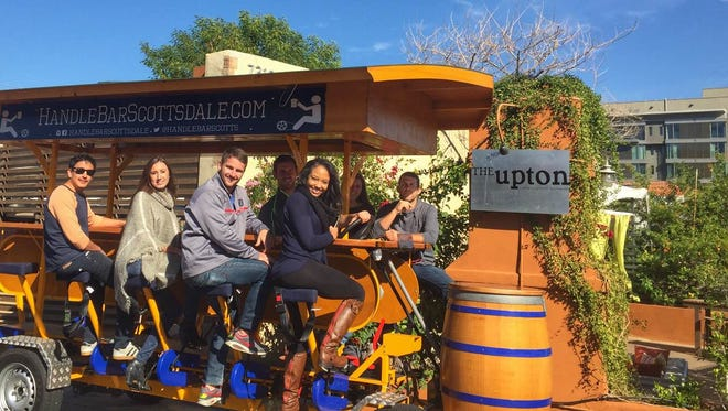The Handlebar Scottsdale pedal bus revs up for its launch on Thursday, Nov. 19.