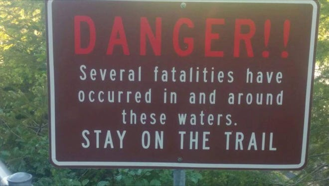 This sign, posted by Lisa Winegar, takes a more forceful tone that could be effective at Cape Kiwanda.