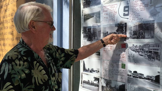Bill Tanghe, the owner of The Design Collections and Johnson Photo in Old Town Indio spent months collecting memorabilia from Indio beginning in the early 1900s. His businesses have been serving the community for 90 years collectively.
