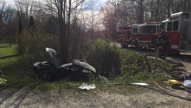 Two people were seriously injured in a St. Clair Township crash Monday.