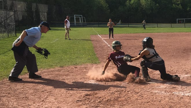 Albertus Magnus defeated Putnam Valley in a Section 1 Class B softball quarterfinal Monday at Putnam Valley High School. May 23, 2016.