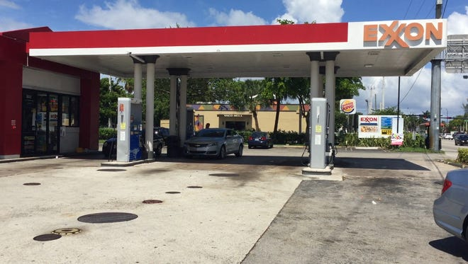 The Exxon Station, located at 1080 W. Hallandale Beach Blvd. in Hallandale Beach,  where Sigfredo Garcia was arrested for the murder of Dan Markel on Wednesday night.