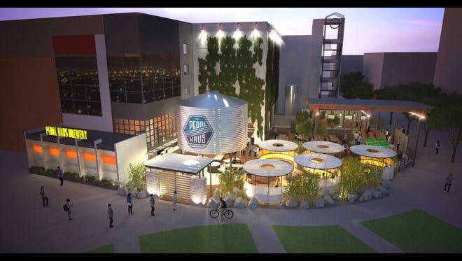 A rendering of what Pedal Haus Brewery will look like when it reopens.