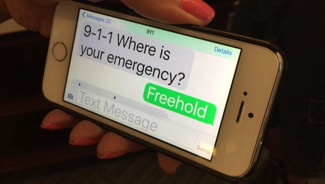 Monmouth County 9-1-1 dispatchers can accept requests for help by text message. Monmouth County officials say a fee the state collects should be used to expand those services