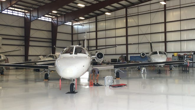 Desert Jet Center, located at the Jacqueline Cochran Regional Airport in Thermal, offers hangar ramp parking, fueling, detailing and maintenance.