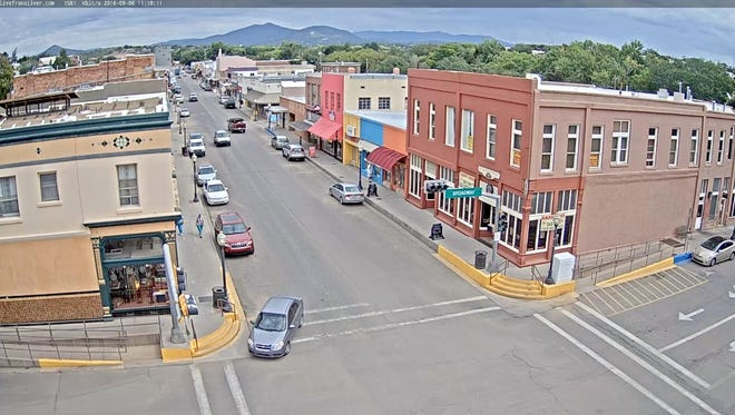 This a live look at the webcam that is erected on top of City Hall in downtown Silver City.
