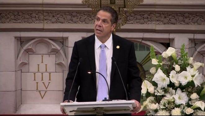 Gov. Andrew Cuomo spoke Sunday, Nov. 20,  2016 at the Abyssinian Baptist Church in Harlem about equal rights.