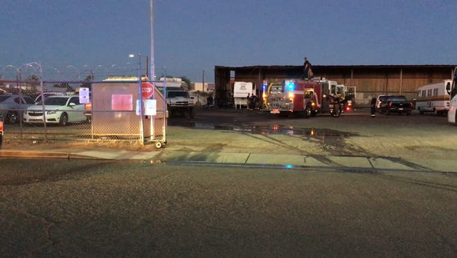 Phoenix fire crews doused the flames at an RV lot near East Buckeye Road and South Eighth Street.